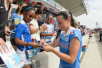 Bridgeview, IL - Sunday June 04, 2017: Fans, Vanessa DiBernardo during a regular season National Women's Soccer League (NWSL) match between the Chicago Red Stars and the Seattle Reign FC at Toyota Park. The Red Stars won 1-0.