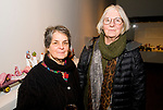 WATERBURY, CT-111917JS10- Martha Zinn and Paige Gillies, both of Easton, at the opening reception for the exhibition, Jane Peterson &quot;At Home and Abroad&quot; at the Mattatuck Museum in Waterbury. <br /> Jim Shannon Republican-American