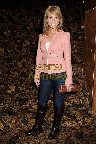 "CHERYL HINES.""The Million Dollar Revival"" Benefit for Fran Drescher's Cancer Schmancer Charity Movement held at the Million Dollar Theatre, Los Angeles, California, USA..December 13th, 2009.full length black jeans denim boots tucked in pink jacket brown clutch bag .CAP/ADM/BP.©Byron Purvis/AdMedia/Capital Pictures."