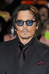 NON EXCLUSIVE PICTURE: PAUL TREADWAY / MATRIXPICTURES.CO.UK<br /> PLEASE CREDIT ALL USES<br /> <br /> WORLD RIGHTS<br /> <br /> American actor Johnny Depp attending the UK Premiere of Mortdecai at Empire Leicester Square, in London.<br /> <br /> JANUARY 19th 2015<br /> <br /> REF: PTY 15171