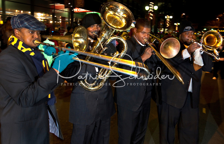 A band performs during the First Night Charlotte 2009 celebration in Uptown Charlotte, NC. First Night Charlotte is the most exciting, imaginative, uplifting cultural event of the year featuring an alcohol-free activities for the entire family.