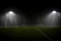 Kansas City, MO - Saturday July 22, 2017: Rain delay during a regular season National Women's Soccer League (NWSL) match between FC Kansas City and the North Carolina Courage at Children's Mercy Victory Field.