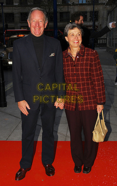 "MICHAEL BUERK & WIFE.At ""The Snowman"" Press Night, .Peacock Theatre, London, England, .December 9th 2006..full length married husband wife berke.CAP/CAN.©Can Nguyen/Capital Pictures"