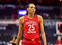 Washington, DC - June 15, 2018: Washington Mystics forward Monique Currie (25) during game between the Washington Mystics and Los Angeles Sparks at the Capital One Arena in Washington, DC. (Photo by Phil Peters/Media Images International)