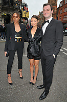 Ines Rau and Scarlett Byrne and Cooper Hefner at the British LGBT Awards 2018, London Marriott Hotel Grosvenor Square, Grosvenor Square, London, England, UK, on Friday 11 May 2018.<br /> CAP/CAN<br /> &copy;CAN/Capital Pictures