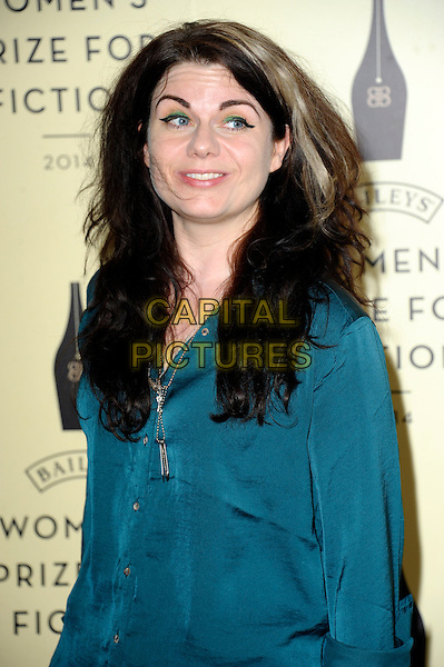 LONDON, ENGLAND - JUNE 04: Caitlin Moran at the 2014 Baileys Women's Prize for Fiction - Winner's Announcement Ceremony at the Royal Festival Hall on June 4, 2014 in London, England.<br /> CAP/CJ<br /> &copy;Chris Joseph/Capital Pictures
