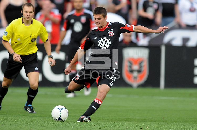 D.C. United midfielder Perry Kitchen (23)  D.C. United defeated the Colorado Rapids 2-0 at RFK Stadium, Wednesday May 16, 2012.