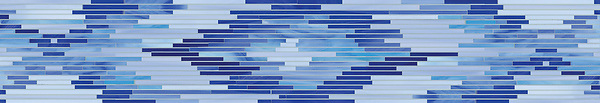 "7"" Loom border, a handmade mosaic shown in multiple shades of jewel glass, is part of the Ikat Collection by New Ravenna."