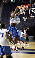 PF Samardo Samuels (Newark, NJ / St. Benedictís) slams the ball during the NBA Top 100 Camp held Thursday June 21, 2007 at the John Paul Jones arena in Charlottesville, Va. (Photo/Andrew Shurtleff)