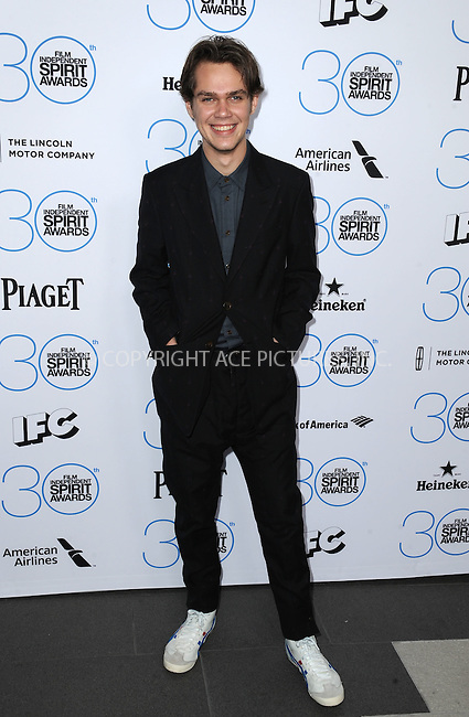WWW.ACEPIXS.COM<br /> <br /> January 10 2015, LA<br /> <br /> Ellar Coltrane attending the 2015 Film Independent Filmmaker Grant and Spirit Awards nominee brunch at the BOA Steakhouse on January 10, 2015 in West Hollywood, California.<br /> <br /> By Line: Peter West/ACE Pictures<br /> <br /> <br /> ACE Pictures, Inc.<br /> tel: 646 769 0430<br /> Email: info@acepixs.com<br /> www.acepixs.com