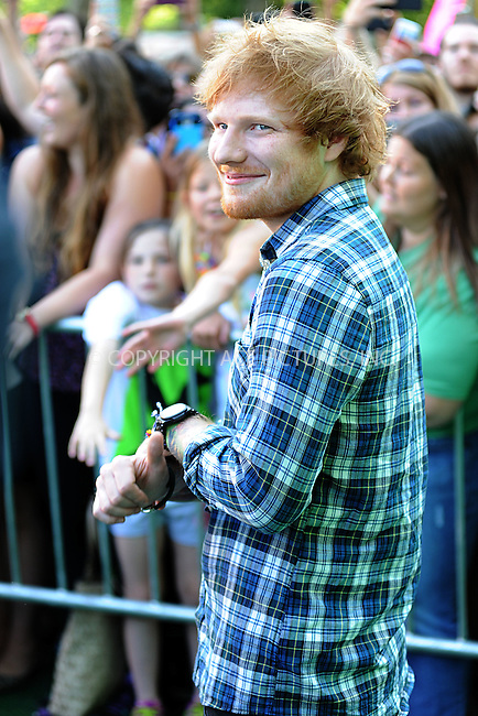 WWW.ACEPIXS.COM<br /> May 29, 2015New York City<br /> <br /> Ed Sheeran performing on GMA at Rumsey Playfield in Central Park on May 29, 2015 in New York City.<br /> <br /> Please byline: Kristin Callahan/ACE<br /> <br /> Tel:(646) 769 0430<br /> e-mail: info@acepixs.com<br /> web: http://www.acepixs.com