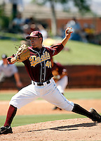 Mitchell Lambson - Arizona State Sun Devils playing against the UCLA Bruins at Packard Stadium, Tempe, AZ - 05/24/2009. Lambson was the winning pitcher in ASU's final regular season game, with a victory over UCLA, 6-5..Photo by:  Bill Mitchell/Four Seam Images