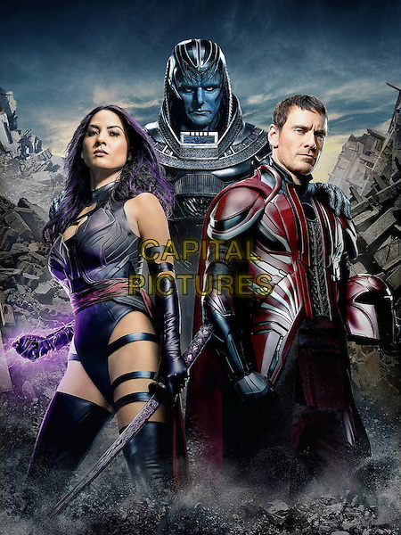 X-Men: Apocalypse (2016)  <br /> Olivia Munn, Oscar Isaac, Michael Fassbender<br /> *Filmstill - Editorial Use Only*<br /> CAP/KFS<br /> Image supplied by Capital Pictures