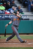 Bret Boswell (13) of the Boise Hawks bats against the Everett AquaSox at Everett Memorial Stadium on July 21, 2017 in Everett, Washington. Everett defeated Boise, 10-4. (Larry Goren/Four Seam Images)