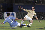 12 December 2008: Zach Loyd (3) of North Carolina and Sam Cronin (2) of Wake Forest compete for a loose ball.  The Wake Forest University Demon Deacons were defeated by the University of North Carolina Tar Heels 0-1 at Pizza Hut Park in Frisco, TX in an NCAA Division I Men's College Cup semifinal game.