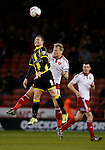Stuart Beavon of Burton Albion tussles with James McEveley of Sheffield Utd - English League One - Sheffield Utd vs Burton Albion - Bramall Lane Stadium - Sheffield - England - 1st March 2016 - Pic Simon Bellis/Sportimage