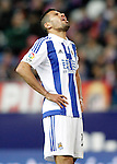 Real Sociedad's Jonathas de Jesus dejected during La Liga match. March 1,2016. (ALTERPHOTOS/Acero)