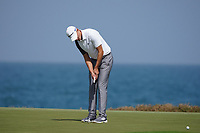 Rasmus Hojgaard (DEN) on the 9th during Round 3 of the Oman Open 2020 at the Al Mouj Golf Club, Muscat, Oman . 29/02/2020<br /> Picture: Golffile   Thos Caffrey<br /> <br /> <br /> All photo usage must carry mandatory copyright credit (© Golffile   Thos Caffrey)