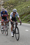 White Jersey Egan Bernal (COL) Team Ineos leads French Champion Warren Barguil (FRA) Arkea-Samsic, Rigoberto Uran (COL) EF Education First and Simon Yates (GBR) Mitchelton-Scott up the Col d'Iseran during Stage 19 of the 2019 Tour de France originally running 126.5km from Saint-Jean-de-Maurienne to Tignes but cut short to 88.5 km, France. 26th July 2019.<br /> Picture: John Pierce/PhotoSport Int | Cyclefile<br /> All photos usage must carry mandatory copyright credit (© Cyclefile | John Pierce/PhotoSport Int)