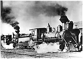 D&amp;RG #417 at Chama double-heading with #207.<br /> D&amp;RG  Chama, NM  1919