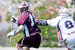 Los Angeles, CA 03/20/10 - Greg Sharron (LMU # 18) and Ryan Daly (Arizona # 8) in action during the Arizona-Loyola Marymount University MCLA game at Leavey Field (LMU).  LMU defeated Arizona 13-6.