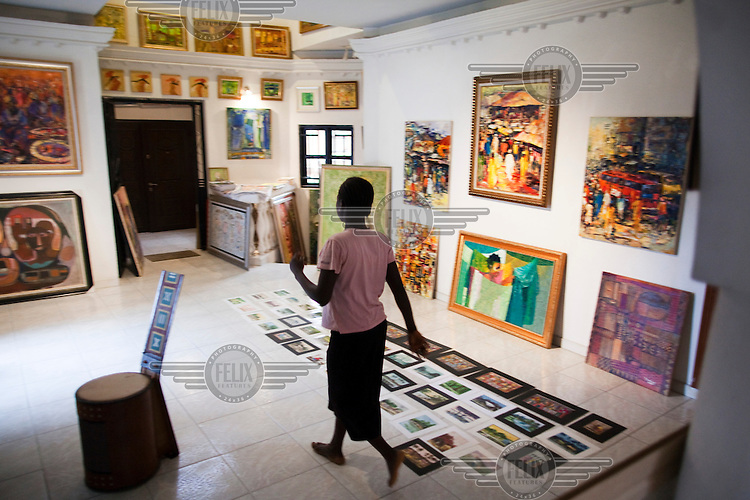 Nike Art Center, an art gallery in the new Lekki section of the city.