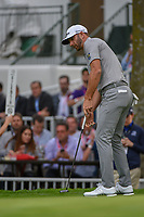 Dustin Johnson (USA) barely misses his birdie putt on 16 during round 2 of the World Golf Championships, Mexico, Club De Golf Chapultepec, Mexico City, Mexico. 2/22/2019.<br /> Picture: Golffile | Ken Murray<br /> <br /> <br /> All photo usage must carry mandatory copyright credit (&copy; Golffile | Ken Murray)