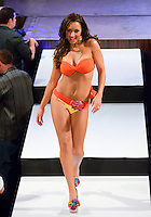 Miami Dolphins Cheerleader, Kylee, walks runway at Miami Dolphins Cheerleaders 2013 Swimsuit Calendar Unveiling Fashion Show at LIV Nightclub in The Fontainebleau Miami Beach Hotel, Miami Beach, FL on August 26, 2012