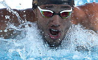 Swimming 55° Settecolli trophy Foro Italico, Rome on June 30, June 2018.<br /> Swimmer Luiz Altamir Melo, of Brazil, competes in the men's 100 meters Butterfly at the Settecolli swimming trophy in Rome, on June 30, 2018.<br /> UPDATE IMAGES PRESS/Isabella Bonotto