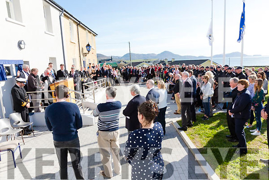 Large attendance at the opening of the Iveragh Coast Guard Station in Waterville on Monday.