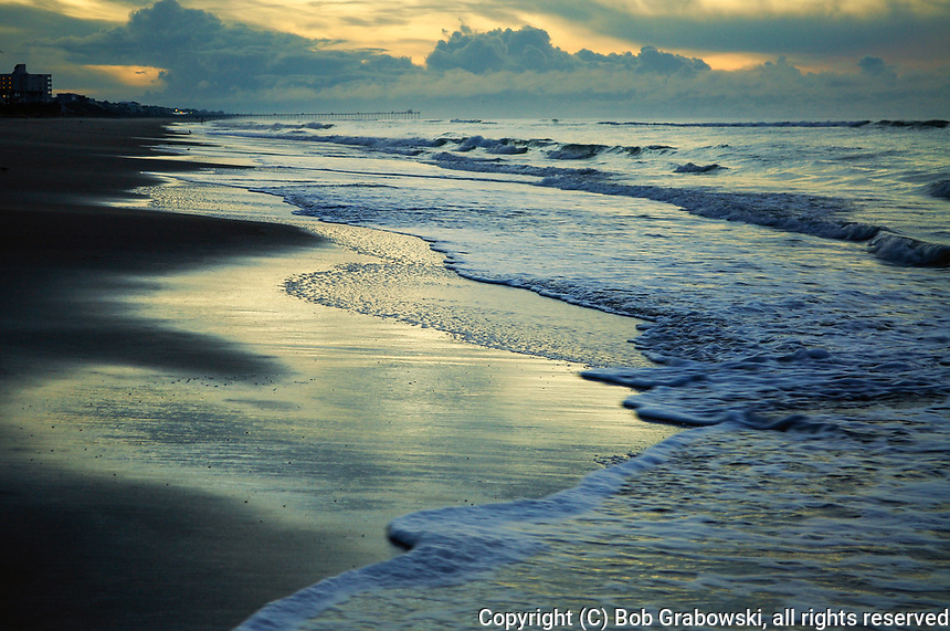 Dawn on the coast of Emerald Isle in North Carolina, North Carolina