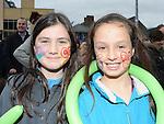 Lana Devinw and Hannah Savage enjoying the fun at the Samhrain festival. Photo: www.pressphotos.ie