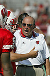 University of Wisconsin head coach Barry Alvarez during the  West Virginia University game at Camp Randall Stadium in Madison, WI, on 9/7/02. The Badgers beat West Virginia 34-17.  (Photo by David Stluka)
