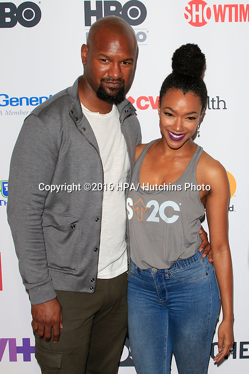 LOS ANGELES - SEP 9:  Kenric Green, Sonequa Martin-Green at the 5th Biennial Stand Up To Cancer at the Walt Disney Concert Hall on September 9, 2016 in Los Angeles, CA