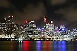 Barangaroo site from Balmain East. Sydney, Australia. Wednesday 26th June  2013.Photo: (Steve Christo)