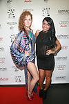 Candi Lynn and Angelina Pivarnick attend New Premium Lounge Signed by INDASHIO Men's Collection Fashion Show at AUDI FORUM, NY  9/13/11
