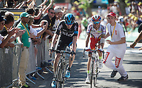 stage win for Joaquim Rodriguez (ESP/Katusha), but overall lead for 2nd Chris Froome (GBR/SKY) after finishing up the infamous Mur de Huy<br /> <br /> stage 3: Antwerpen (BEL) - Huy (BEL)<br /> 2015 Tour de France