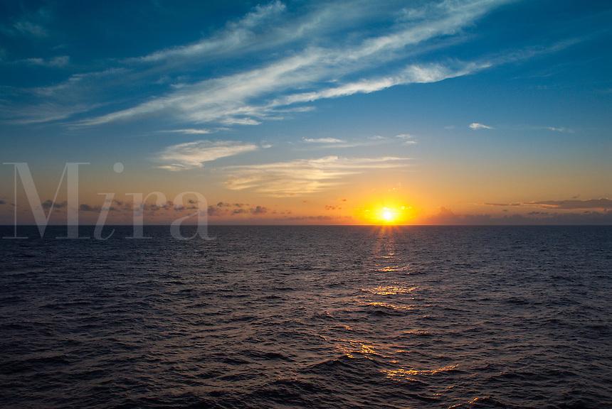 Atlantic ocean sunrise.