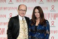 Jean-Marc Loubier - Hedieh Loubier - Diner de la mode du Sidaction 2017 - 26 janvier 2017 - Paris - France # DINER DE LA MODE DU SIDACTION 2017