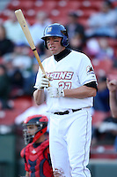 April 14, 2010:  Mike Hessman of the Buffalo Bisons at bat during a game at Coca-Cola Field in Buffalo, New York.  The Bisons are the Triple-A International League affiliate of the New York Mets.  Photo By Mike Janes/Four Seam Images