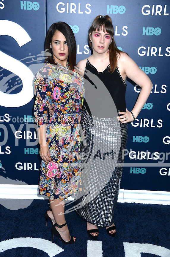Jennifer Konner and Lena Dunham attend the 'Girls' premiere at Alice Tully Hall, Lincoln Center on February 2, 2017 in New York City.