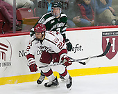 Devin Tringale (Harvard - 22), Josh Hartley (Dartmouth - 3) - The Harvard University Crimson defeated the Dartmouth College Big Green 5-2 to sweep their weekend series on Sunday, November 1, 2015, at Bright-Landry Hockey Center in Boston, Massachusetts.