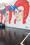 Wellington is known for its street art including the David Bowie Aladdin Sane mural.