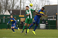 Roddy Lemba of Romford goes close during Romford vs Basildon United, Bostik League Division 1 North Football at Rookery Hill on 24th November 2018
