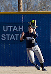 March 10, 2012:   Nevada Wolf Pack outfielder Sara Parsons makes the play against the San Diego Toreros during their NCAA softball game played as part of the The Wolf Pack Classic at Christina M. Hixson Softball Park on Saturday in Reno, Nevada.