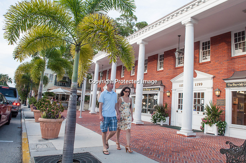 Fine dining and shopping along Third Street South, Naples, Florida, USA, Aug. 22, 2012. Photo by Debi Pittman Wilkey