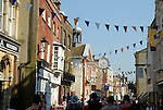 Crowds in Rochester High Street, celebrating the Dickens Festival