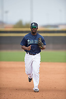 Seattle Mariners outfielder Greifer Andrade (3) during a Minor League Spring Training game against the San Diego Padres at Peoria Sports Complex on March 24, 2018 in Peoria, Arizona. (Zachary Lucy/Four Seam Images)