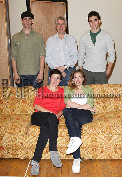 "Eddie Cahill, Bill Buell, Jake Silbermann, Hannah Cabell, Anna Chlumsky.attending the Meet & Greet the Cast and Creators of David Adjmi's ""3C"" at the MTC Rehearsal Studios in New York City on 5/8/2012.."