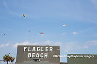 63495-02713 Kites flying at Flagler Beach Flagler Beach, FL